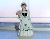 Vintage Florence Ceramics Suzette Girl with Basket Hatpin Holder 1940s