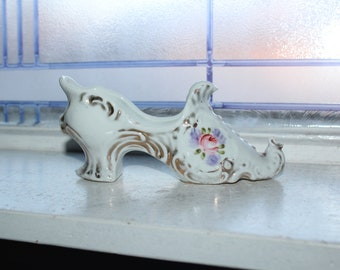 Price Reduced From an Estate in Sisters Nice Collection of Three Vintage Ceramic Porcelain Shoe Figurines Oregon