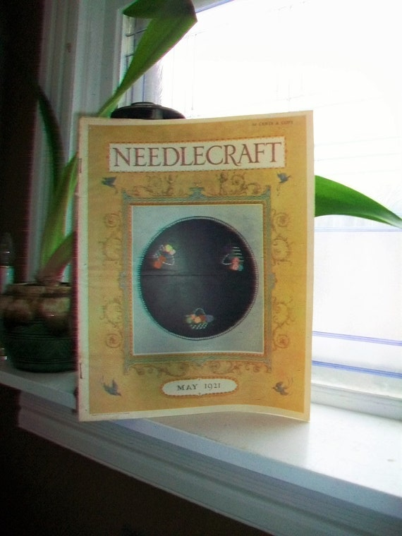 1921 Needlecraft Magazine May Issue with Great Cream Of Wheat Ad Vintage 1920s Sewing