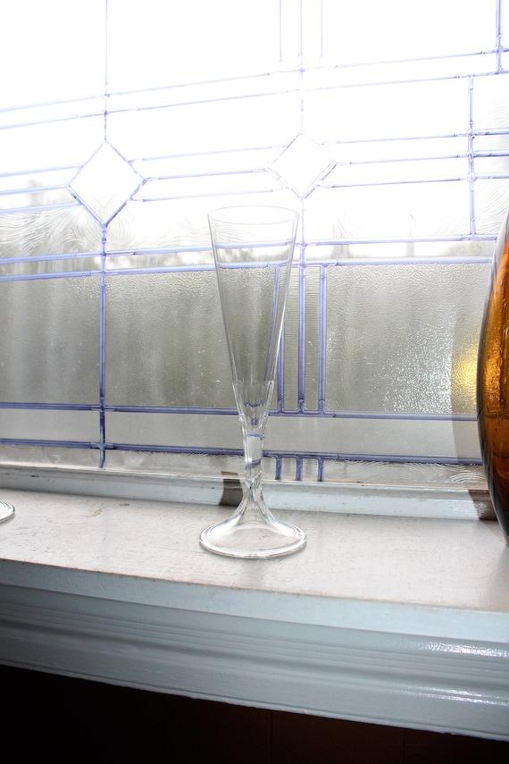 """Vintage Lalique Villandry Champagne Flute Glass 9 1/4"""" Stemware"""