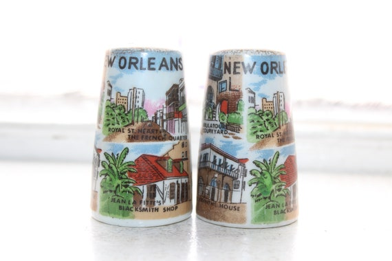 Vintage Salt and Pepper Shakers New Orleans Souvenir