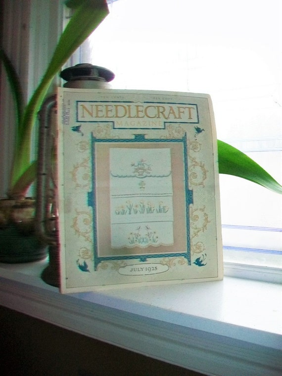 1925 Needlecraft Magazine of Home Arts July Issue Vintage 1920s Sewing