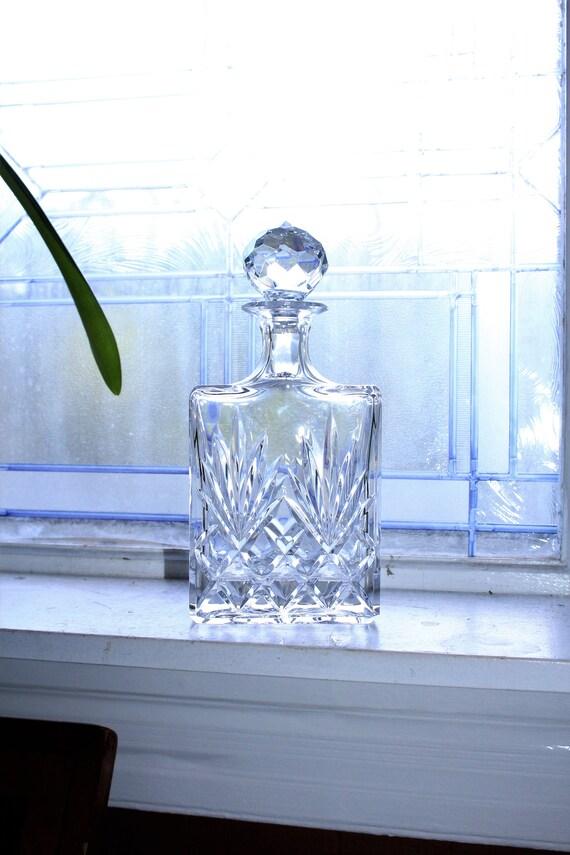 Classic Crystal Liquor Decanter Vintage Mad Men Barware