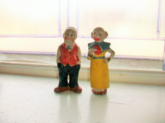 Maggie and Jiggs Figurines 1930s King Features Comic Strip Characters