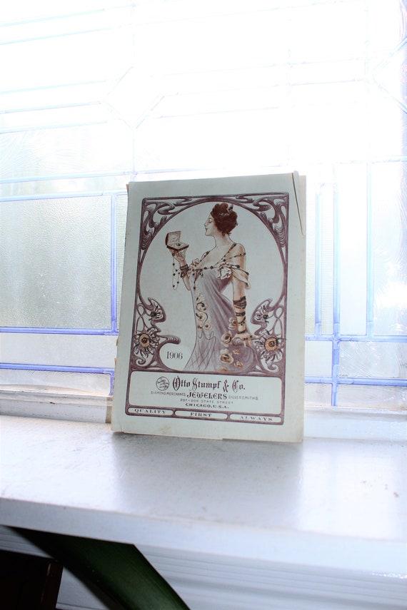 Antique 1906 Diamond Jewelry & Watches Catalog Otto Stumpf Chicago