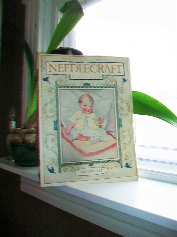 1927 Needlecraft Magazine of Home Arts August Issue Vintage 1920s Sewing