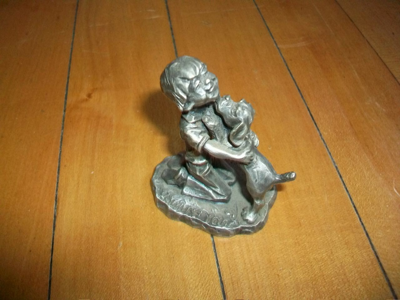 Vintage Pewter Figurine A Boy and His Dog 1979 Little
