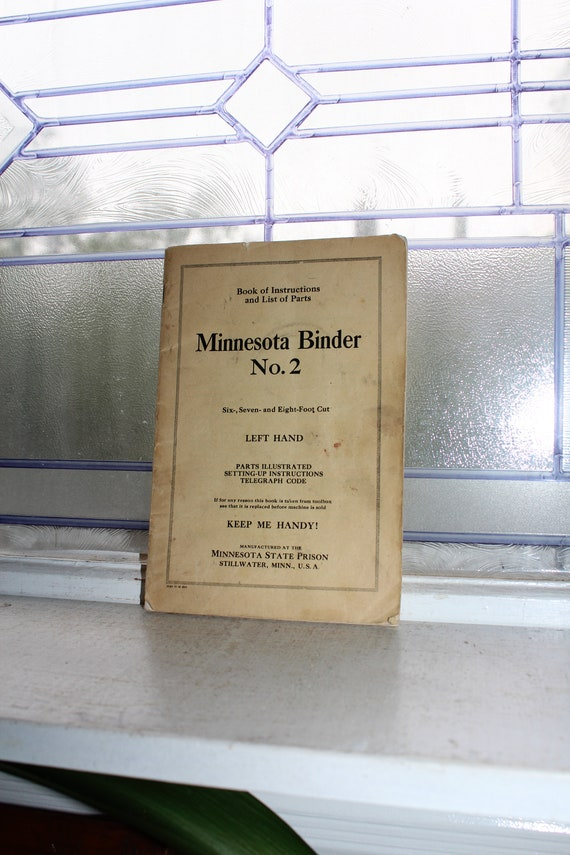 Vintage 1920s Minnesota Binder No 2 Farm Equipment Manual Owners Guide