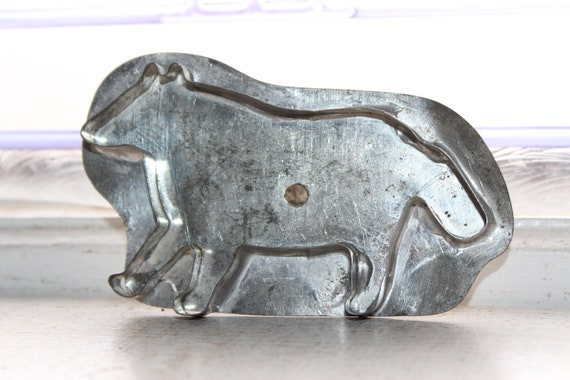 Primitive Antique Tin Dog Cookie Cutter Early 1900s Handmade