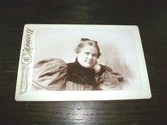 Vintage 1800s Cabinet Card Photograph Victorian Woman