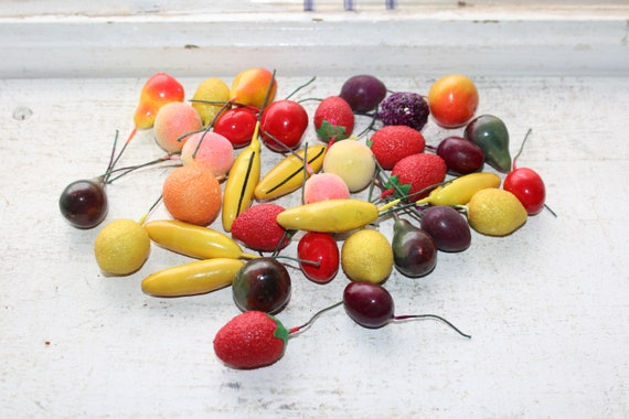 36 Vintage Christmas Fruit Ornaments for Feather Tree