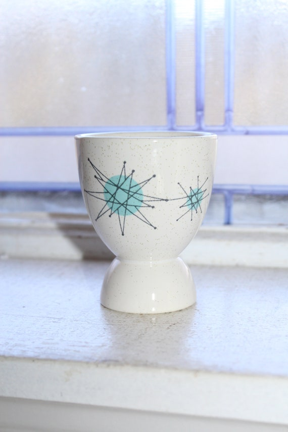Franciscan Starburst Single Egg Cup Vintage Mid Century Atomic 1950s
