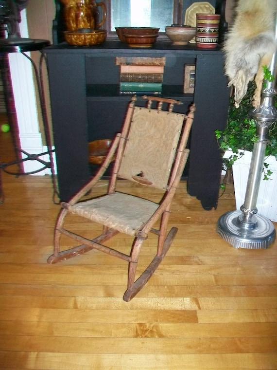 Victorian Child's Rocking Chair Antique 1850 to 1875 Rocker Farmhouse Decor