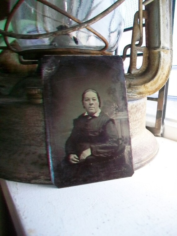 Antique Tin Type Photograph of a Woman Circa 1850-1860s