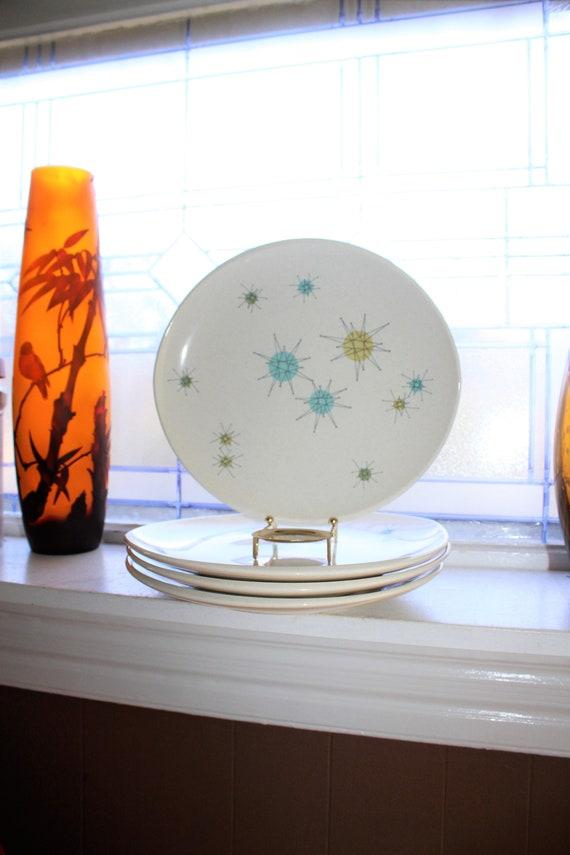 Franciscan Starburst Dinner Plate Mid Century Atomic