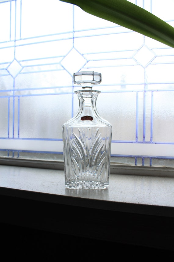 Gorham Crystal Liquor Decanter Square Vintage Barware Nocturne Spirit