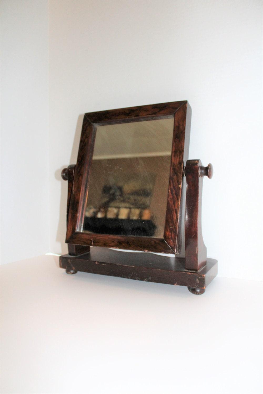 Wooden Vanity Mirror Shaving Dresser Antique