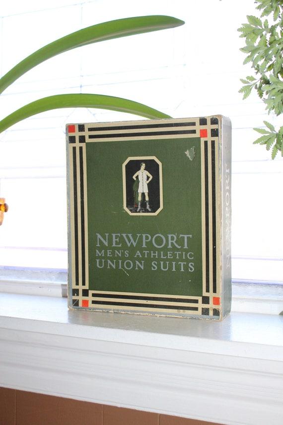 Antique Newport Men's Athletic Union Suits Box Store Display