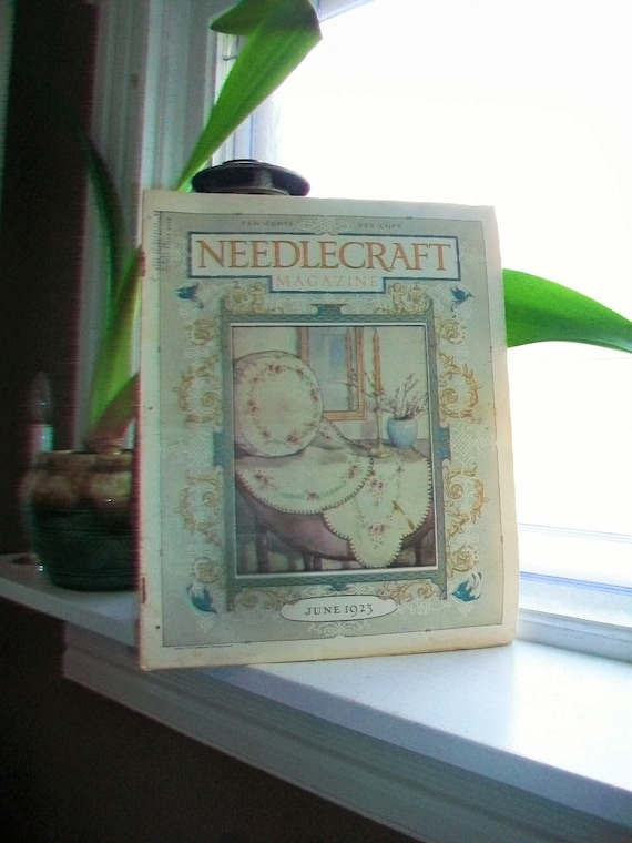 1923 Needlecraft Magazine June Issue with Great Cream Of Wheat Ad Vintage 1910s Sewing