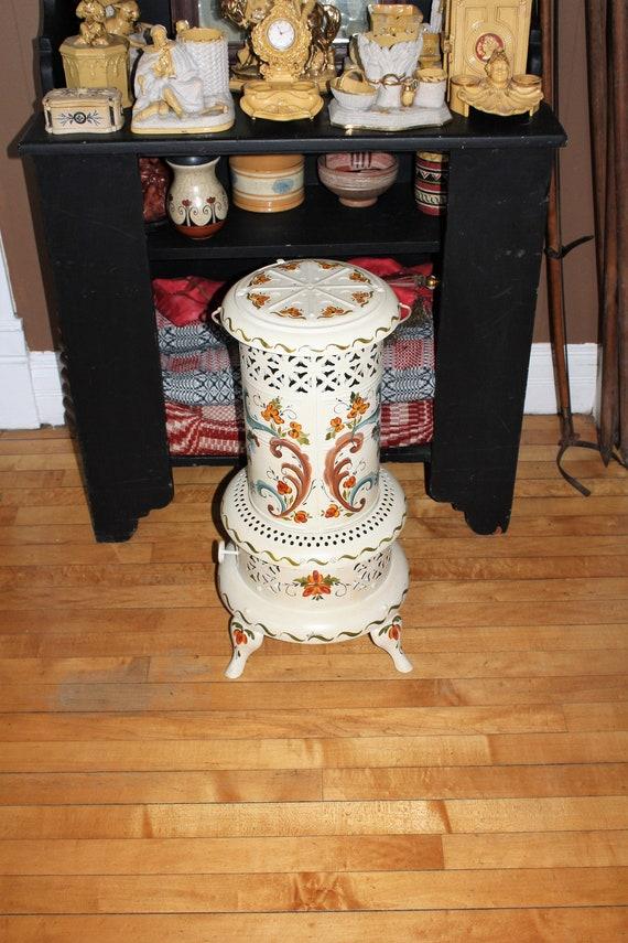 Perfection Oil Heater Parlor Rosemaled Folk Art Vintage 1920s
