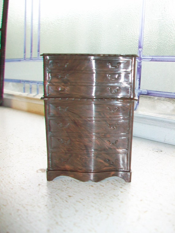 Vintage Dollhouse Furniture Renwal Highboy Dressser