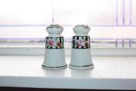 Salt and Pepper Shakers Antique Nippon Hand Painted
