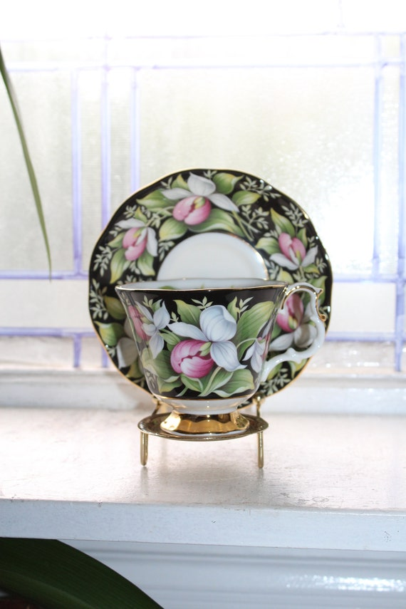 Royal Albert Provincial Flowers Tea Cup and Saucer Vintage Bone China