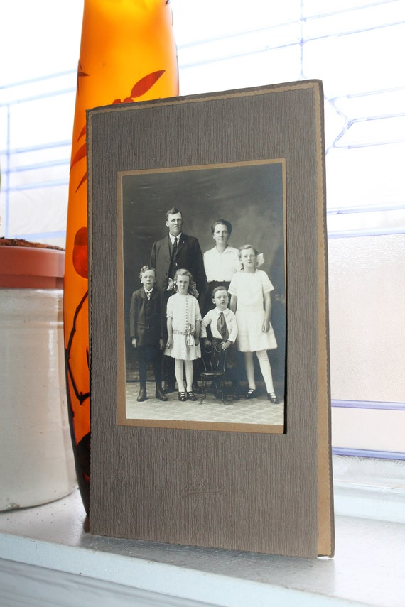 Antique Edwardian Family Photograph Early 1900s