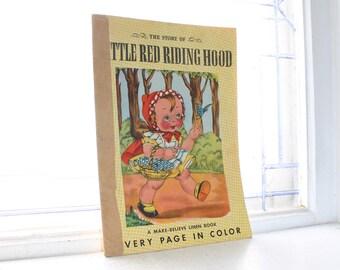 Vintage Children's Book Little Red Riding Hood 1940s