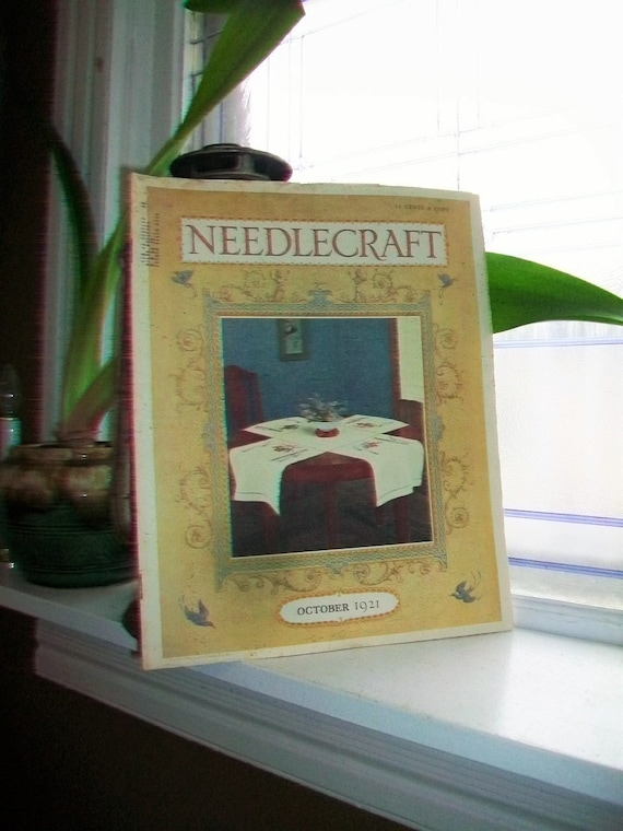1921 Needlecraft Magazine October Issue with Large Cream Of Wheat Ad Vintage 1920s Sewing