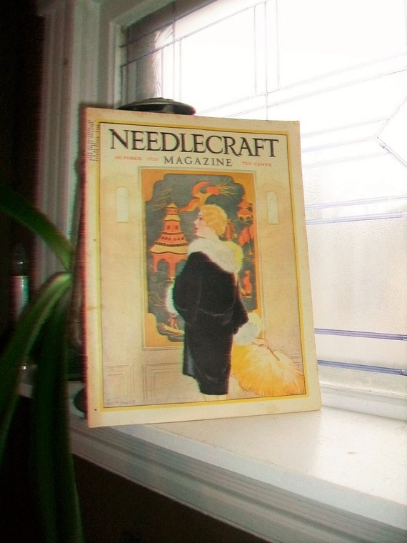 1928 Needlecraft Magazine October Issue Vintage 1920s Sewing