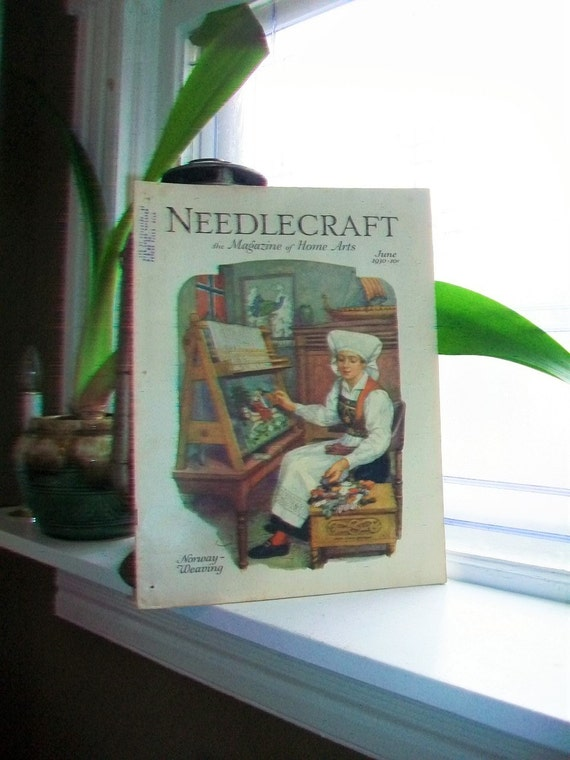 1930 Needlecraft Magazine of Home Arts June Issue Vintage 1930s Sewing