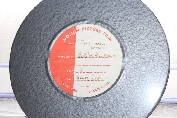 Large 8 mm Movie Jay's Early Days Vintage 1950s