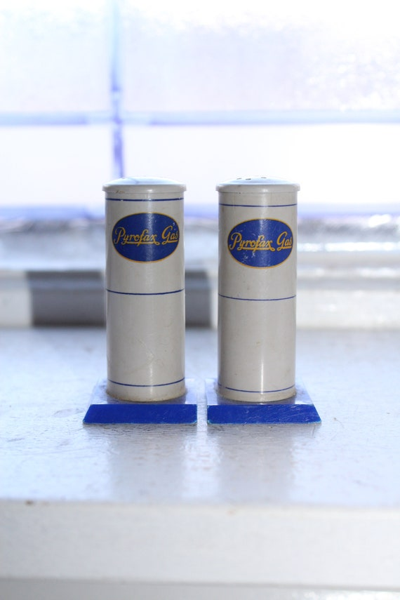 Vintage Pyrofax Gas Pump Salt and Pepper Shakers