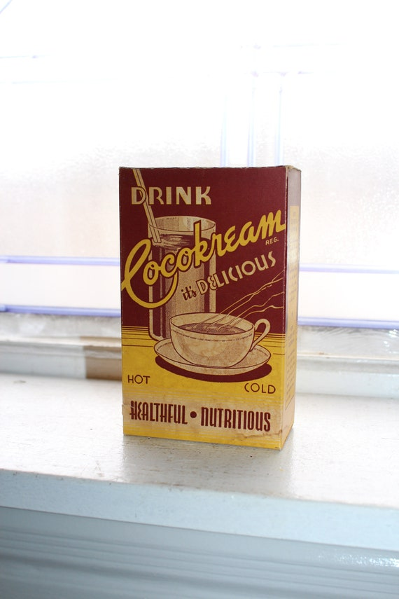 Vintage 1920s Cocokream Box Country Store Display