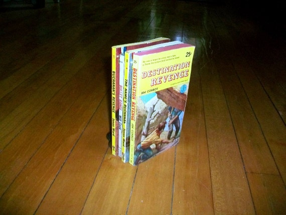 4 Vintage Western Paperbacks Collection of 1950s-60s Books