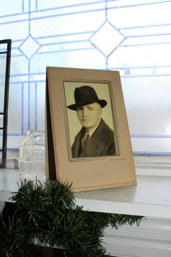 Vintage Photograph Dapper Dan Man Art Deco Frame 9 x 6 Inches