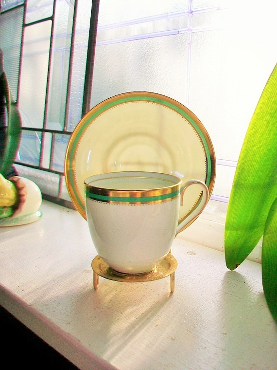 Vintage Cauldon China Tea Cup and Saucer English Bone China