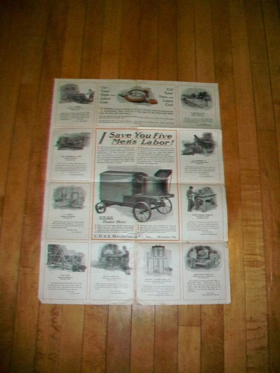 Antique Heavy Equipment Advertisement Inquiry Blank CH & E Manufacturing