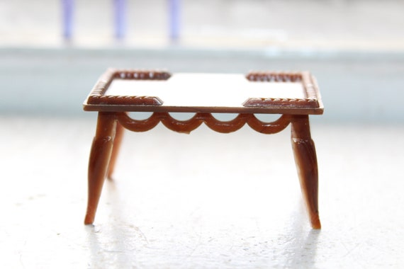 Dollhouse Furniture Renwal Coffee Table Vintage 1960s