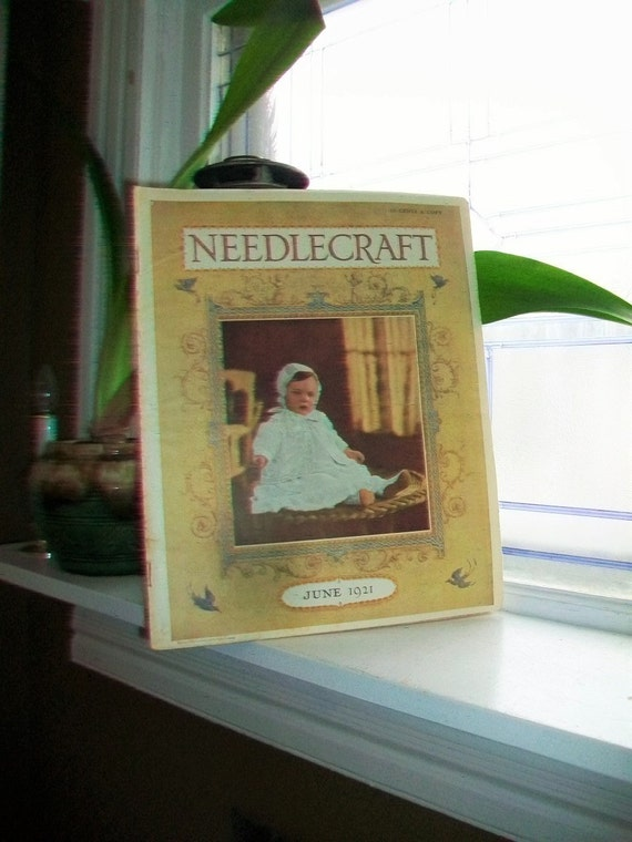 1921 Needlecraft Magazine June Issue with Great Cream Of Wheat Ad Vintage 1920s Sewing