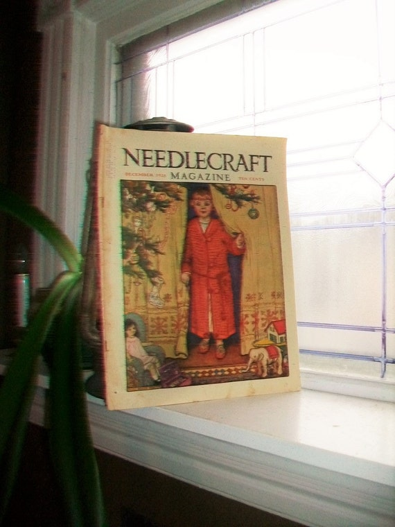 1928 Needlecraft Magazine December Issue Vintage 1920s Sewing