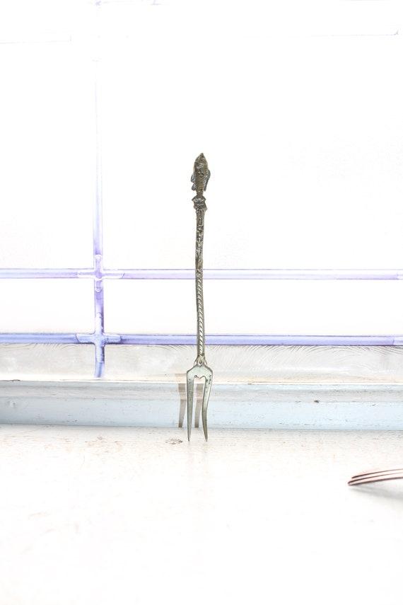 Antique Silverplate Sardine Fork Madrigal Italy