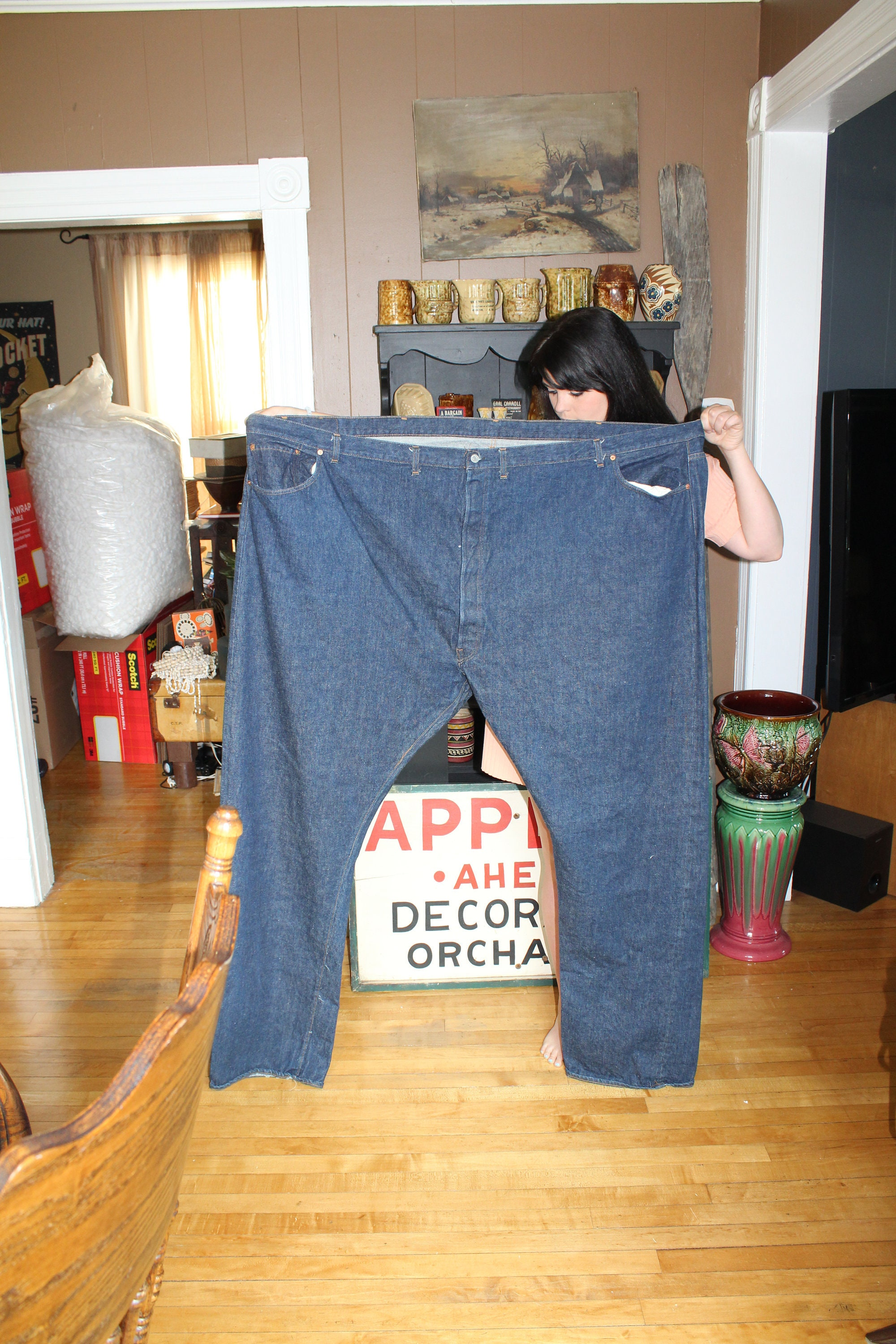 d8630bf239e3a Vintage Levis Jeans Huge Store Display 76 x 45 Inches 1970s