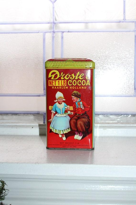 Vintage Droste Cocoa Tin 1920s