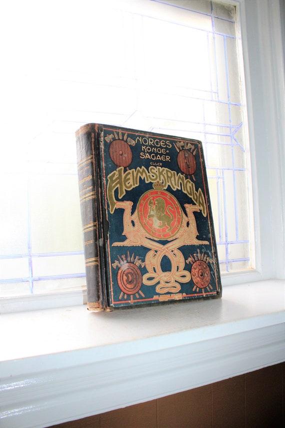 Antique Norway History Book Norges Kongesagaer Eller Heimskringla 1907