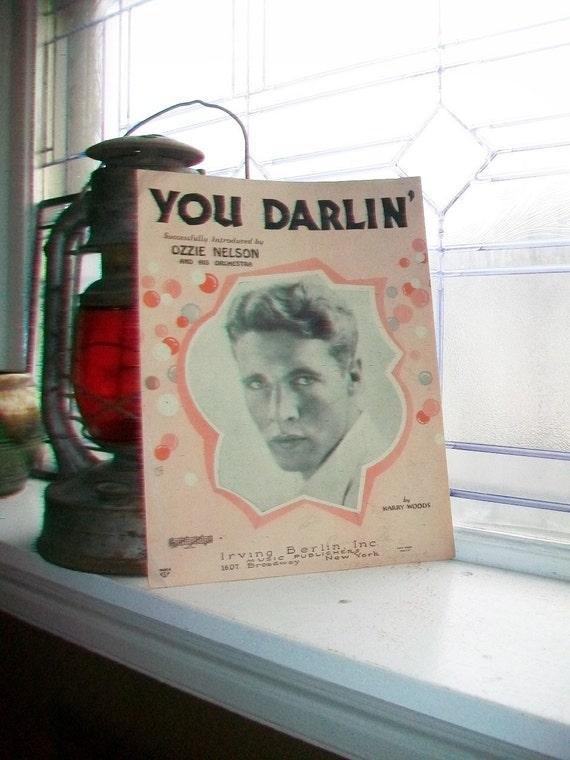 Vintage Sheet Music 1930 You Darlin' Ozzie Nelson