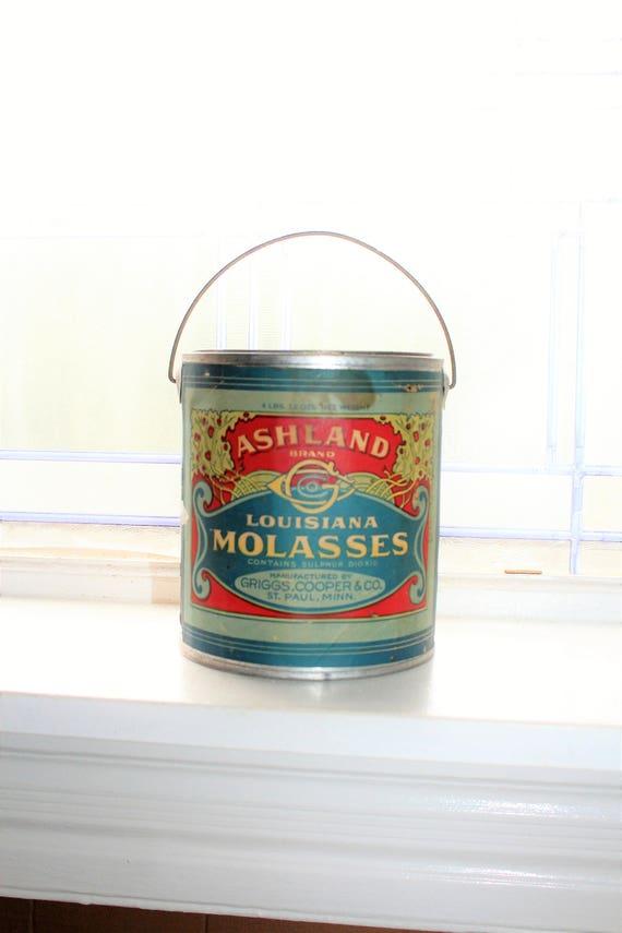 Antique Ashland Louisiana Molasses Tin