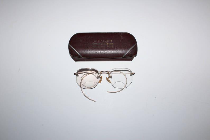 375e41599685 Antique Eyeglasses by Shuron 10K Gold Filled Frames with Case