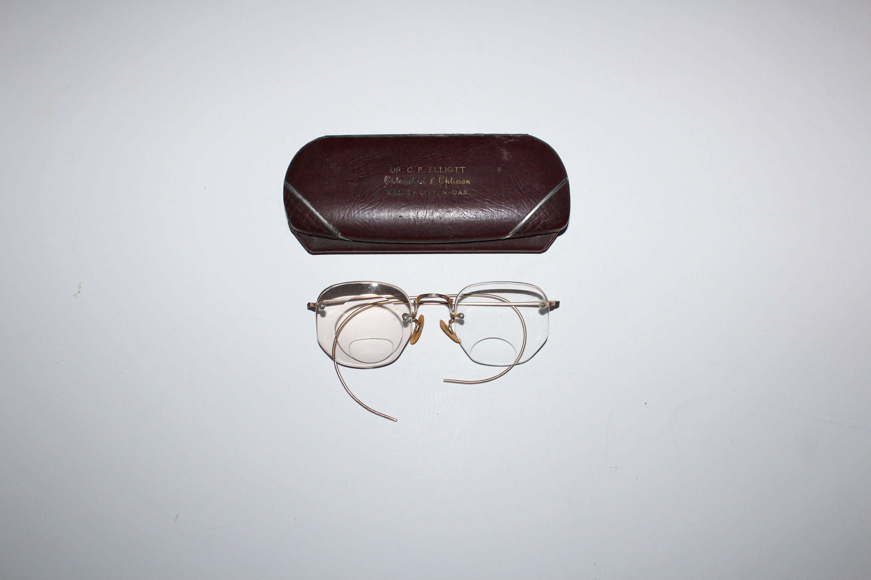 Antique Eyeglasses by Shuron 10K Gold Filled Frames with Case